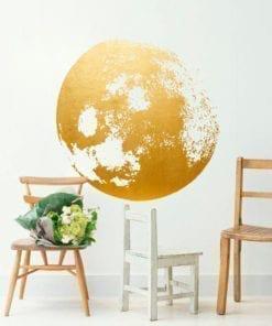 Golden Moon Wall Decal