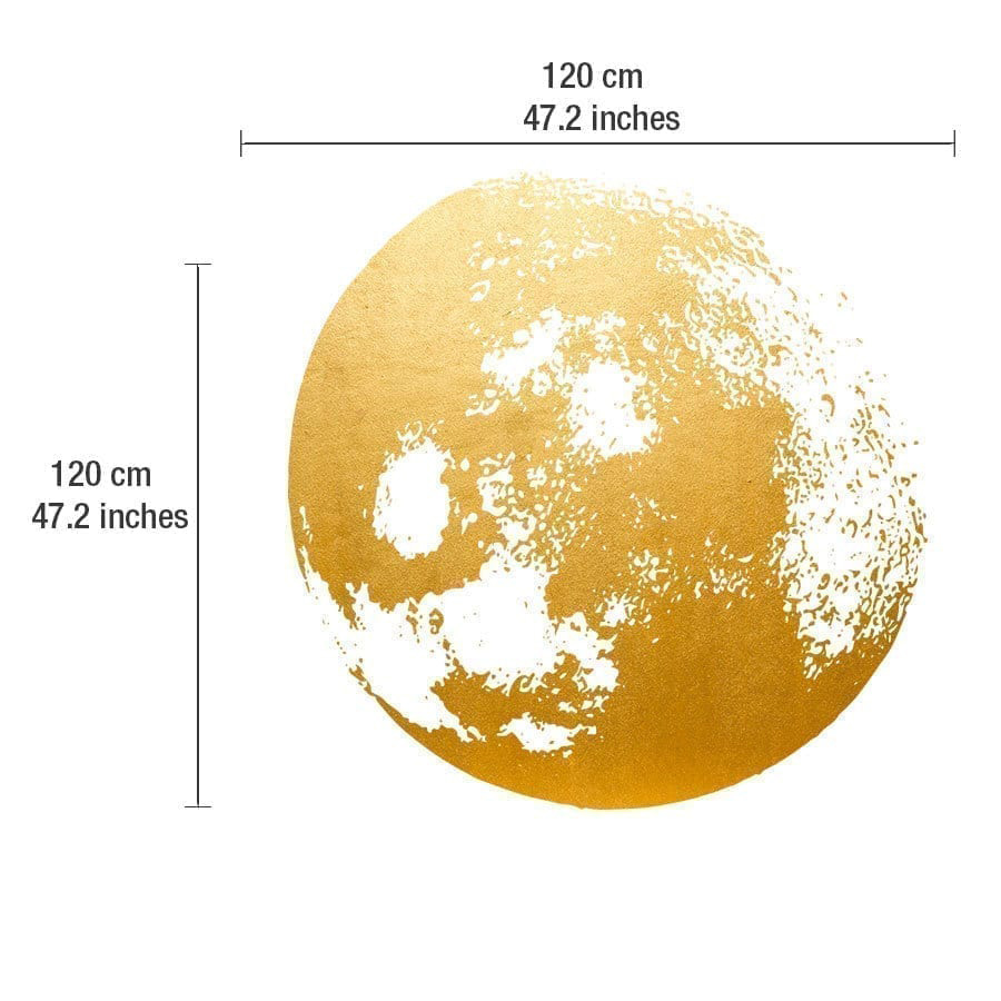 Golden Moon wall decal - Moonwallstickers.com