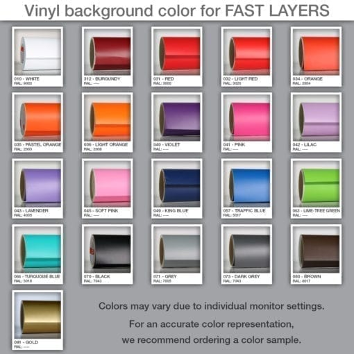 Vinyl Background color for FAST LAYERS