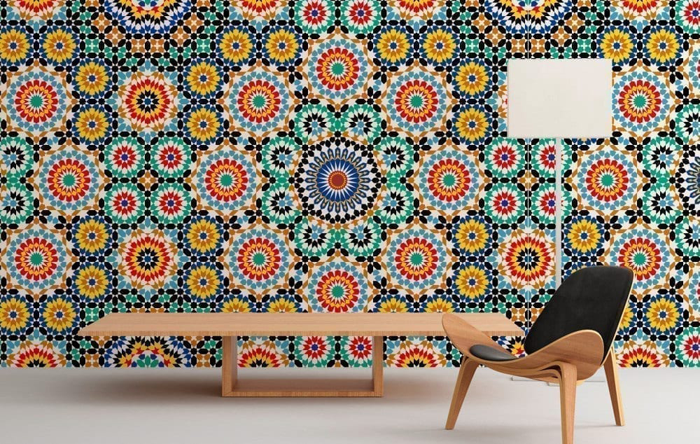 Moroccan pattern wall art Revetement mural autocollant
