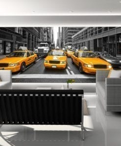 New York Yellow Cabs Wall Mural
