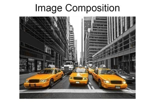New York Yellow Cabs Wall Mural Composition