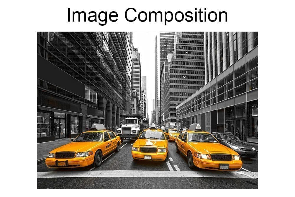 New York Yellow Cabs Wall Mural Composition Part 78