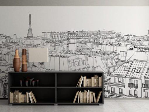 Paris Outlines Wall Art