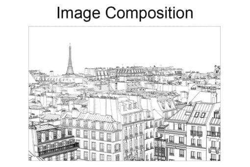Paris Outlines Wall Art Composition
