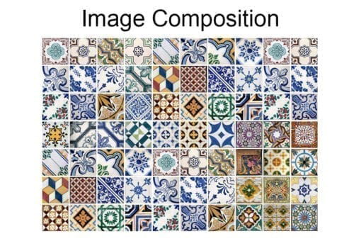 Portuguese Tiles Wall Art Composition