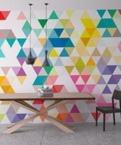 Wall Art Geometric Mid Century Triangles