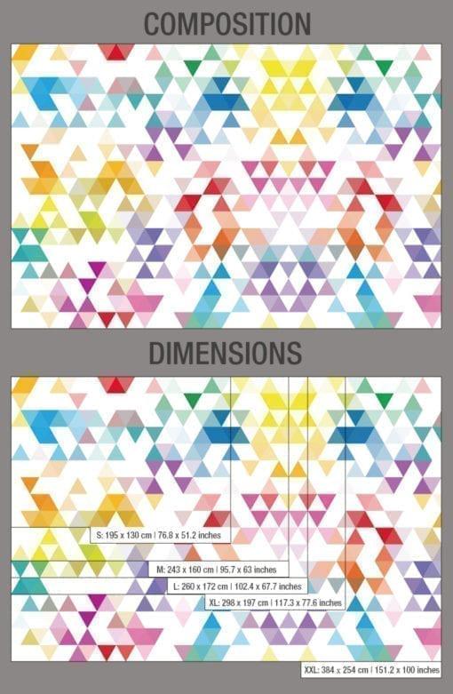 Geométricos Mid Century Triángulos Composition