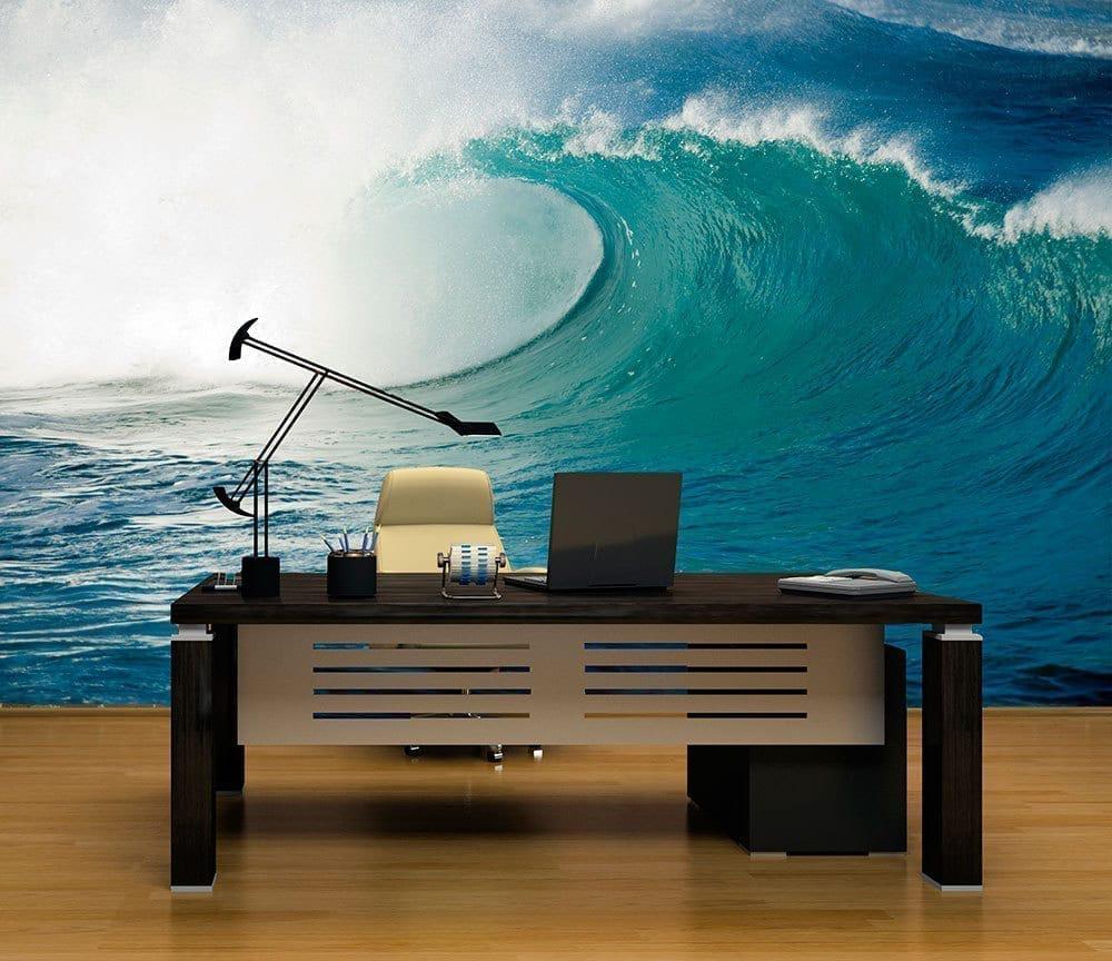 wave wall mural moonwallstickers com sea wave living room wallpaper mural photo wallpapers
