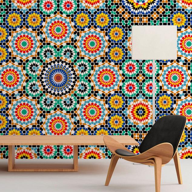 Moroccan Pattern Wall Art - Moonwallstickers.com