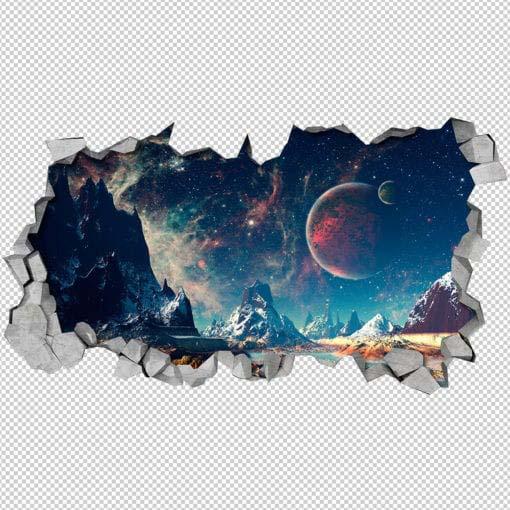 Alienscape Broken Wall Detail