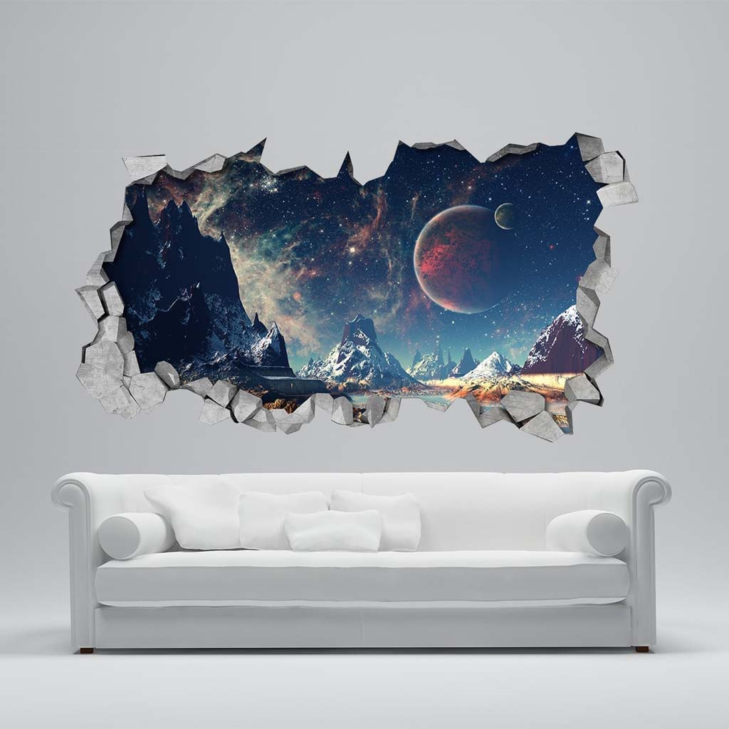 alienscape broken wall. Black Bedroom Furniture Sets. Home Design Ideas