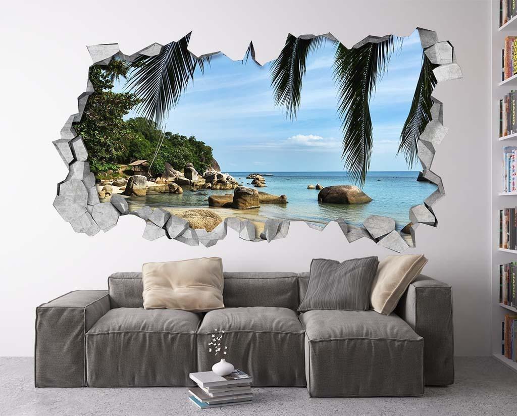 3 d wallpaper in the interior, photo