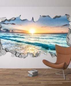 Vista Spiaggia 3D Arte Muraria