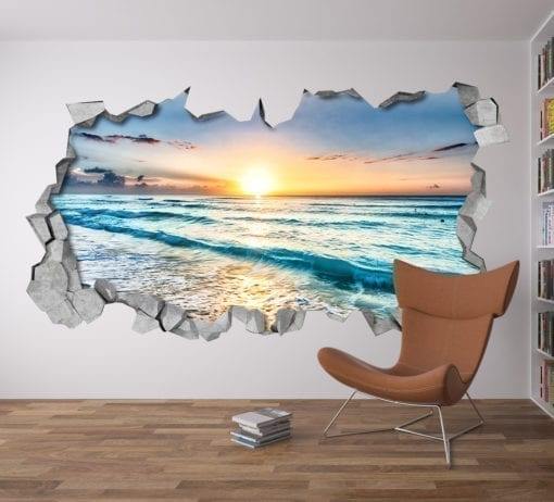 Beach View 3D wall art