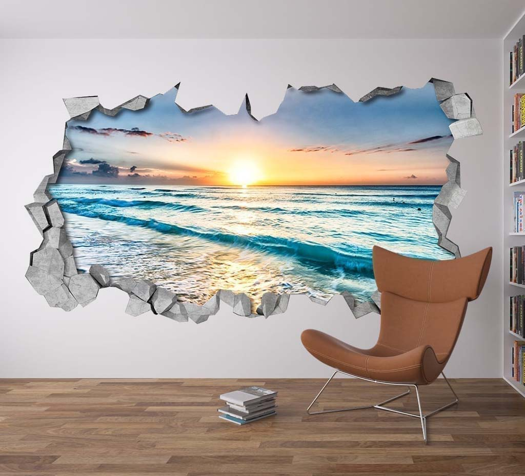 3d Wall Art beach view 3d wall art - moonwallstickers