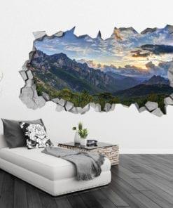 Montañas Nubladas Decoración de pared