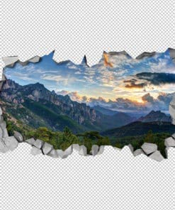 Cloudy Mountains Wall Decor Detail