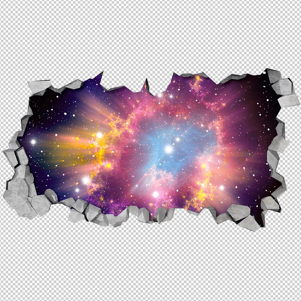 Cosmic Broken Wall 3d Moonwallstickers Com