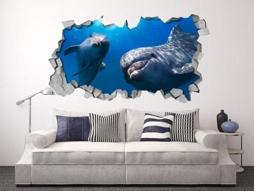 Dolphins Hello 3D Panels
