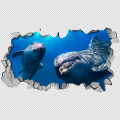 Dolphins Hello 3D Panels Detail
