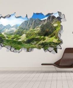 Green Mountains 3D Wallpaper