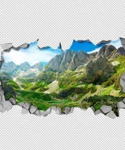 Green Mountains 3D Wallpaper Detail