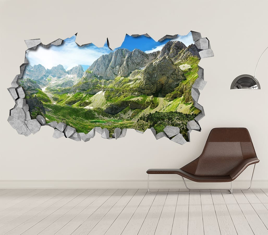 Green mountains 3d wallpaper - 3d vinyl wandtattoo ...