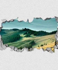 Green Woods Wall Art Detail