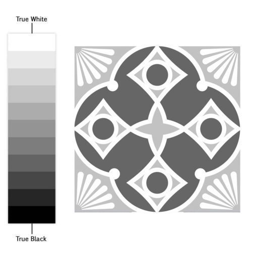 Grey Scale Floor Tile Decals - Color Spectrum