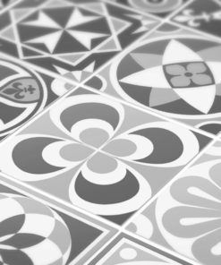 Grey Scale Floor Tile Decals - Detail