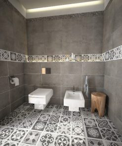 Grey Scale Floor Tile Decals - Floor