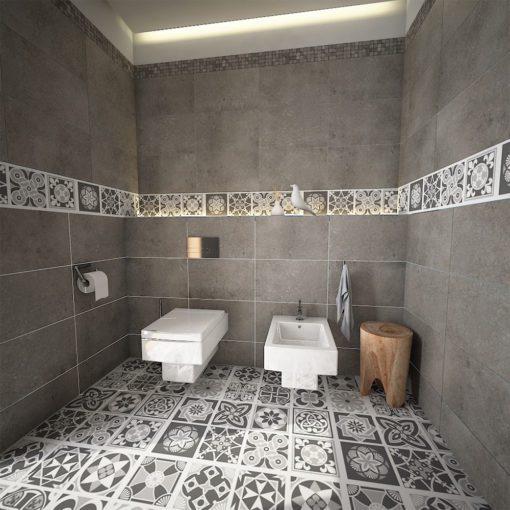 Grey Scale Floor Tile Decals - Floor