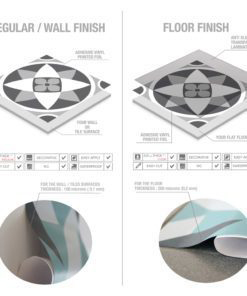 Grey Scale Floor Tile Decals - Material