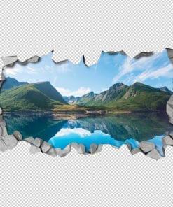 Lake Mountains Wall Art Detail