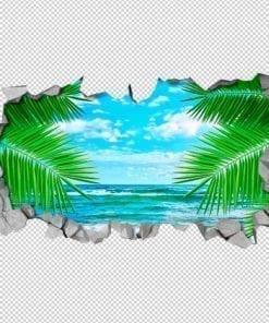 Leaf Sea 3D Wall Detail