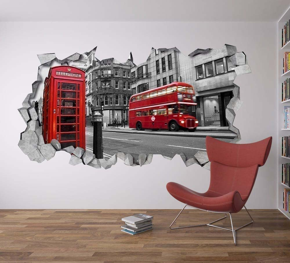 London wall decor for Decoration autocollant mural
