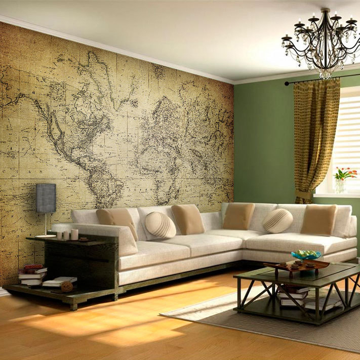 World Map Vintage Wall Art Moonwallstickers Com