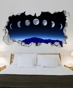 Moon Phases 3D Wall
