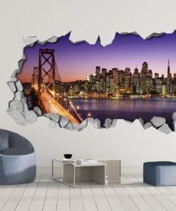 Night Bridge 3D Wallpaper