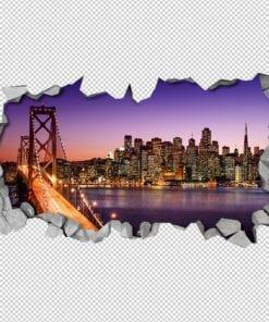 Night Bridge 3D Wallpaper Detail