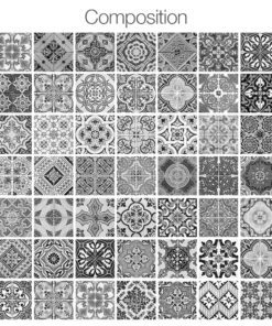 Portuguese Tiles BW - Composition