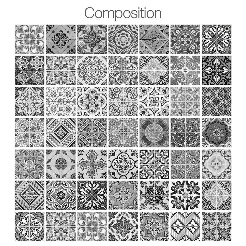 Portuguese Floor Tiles Decals (Pack of 48)