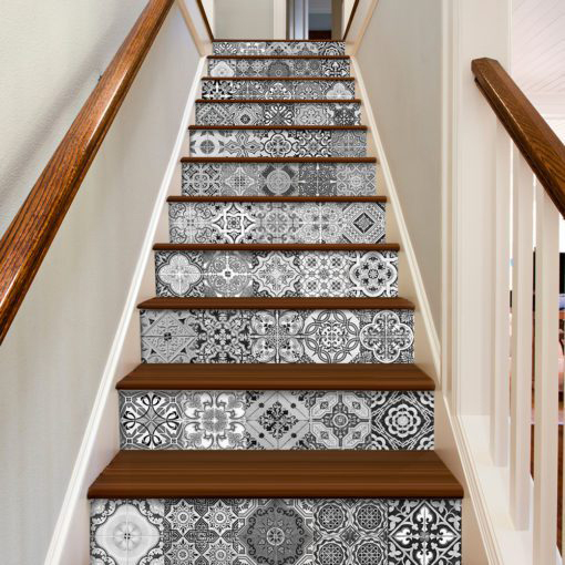 Portuguese Tiles BW - Stairs