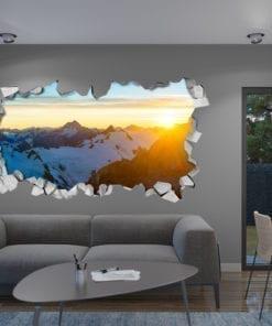 Sunny Mountain 3D Panels