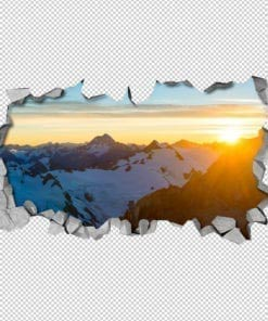 Sunny Mountain 3D Panels Detail