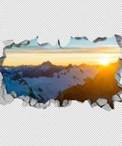 Sunny Mountain 3D Panels Detail