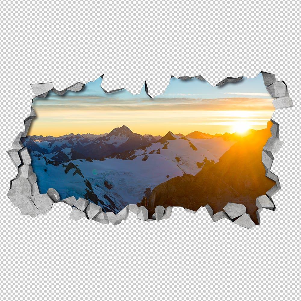 Soleggiato montagna 3d pannelli for Pannelli adesivi 3d