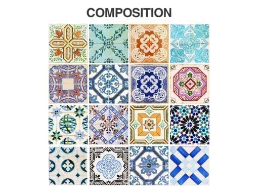 Traditional Spanish Tiles - Composition