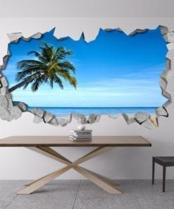 Tropical Beach 3D Wall